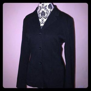 Professional tailored black blazer